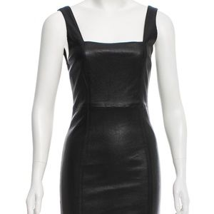 Alice and Olivia black leather dress 0